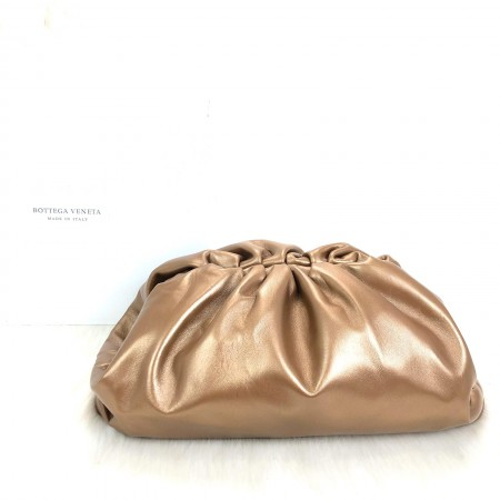 BOTTEGA VENETA THE POUCH FRAME CLUTCH BRONZ