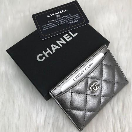 CHANEL CLASSİC CARD HOLDER GUMUS
