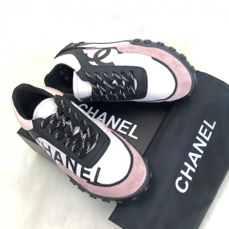 CHANEL CC CALFSKİN SNEAKERS PUDRA