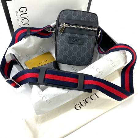 GUCCİ GG SMALL MESSENGER SUPREME BLACK