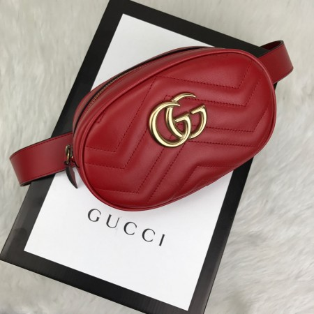 GUCCİ BELT BAG HAKİKİ DERİ KIRMIZI