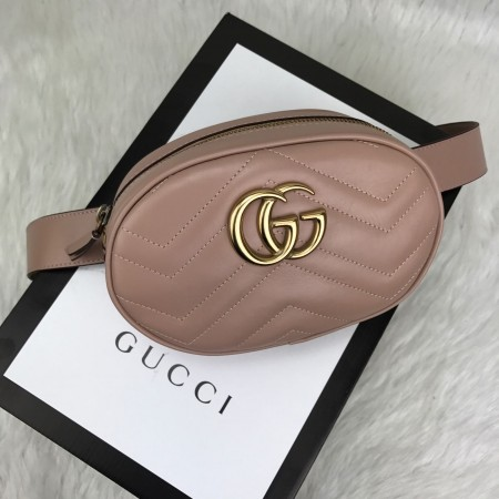 GUCCİ BELT BAG HAKİKİ DERİ PUDRA