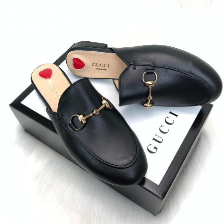 GUCCİ PRİNCETOWN LEATHER SLİPPERS