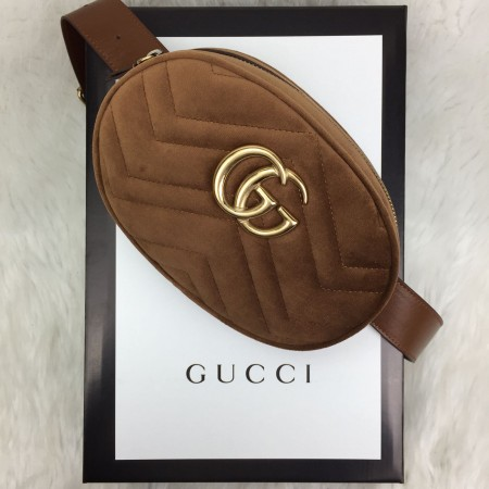 GUCCİ BELT BAG KADİFE TABA