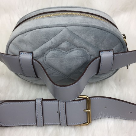 GUCCİ BELT BAG KADİFE GRİ