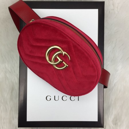 GUCCİ BELT BAG KADİFE KIRMIZI
