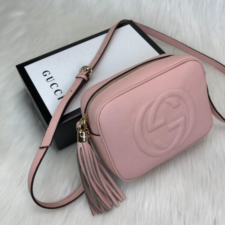 GUCCİ SOHO DİSCO BAG HAKİKİ DERİ PUDRA